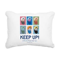 Keep Up! Rectangular Canvas Pillow