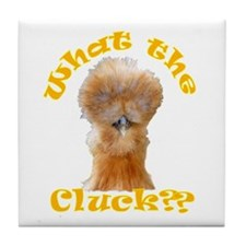 What the Cluck Tile Coaster