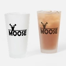 Cool Moose Drinking Glass
