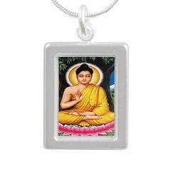 Buddha Silver Portrait Necklace