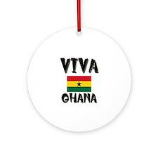 Viva Ghana Ornament (Round)