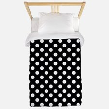 Black and White Polka Dots Twin Duvet Cover