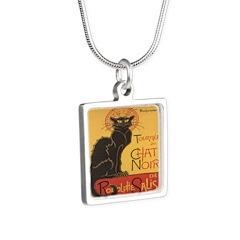 Le Chat Noir Silver Square Necklace