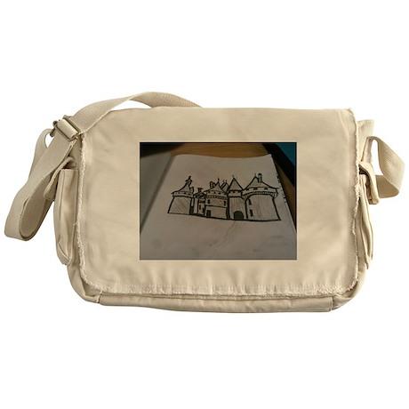 B&W Medieval Castle Messenger Bag
