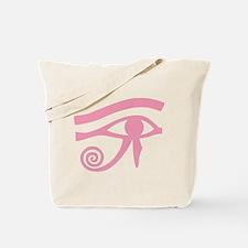 Pink Eye of Horus Hieroglyphic Tote Bag