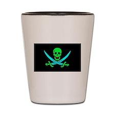 Pirate flag e5 Shot Glass