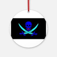 Pirate flag e4 Ornament (Round)