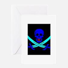 Pirate flag e4 Greeting Card