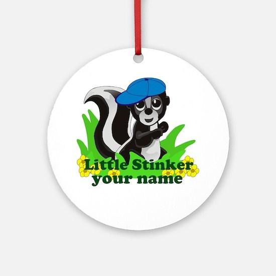 Personalized Little Stinker (Boy) Ornament (Round)