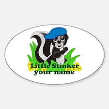 Personalized Little Stinker (Boy) Stickers