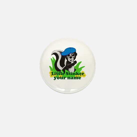 Personalized Little Stinker (Boy) Mini Button