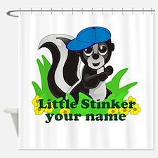 Personalized Little Stinker (Boy) Shower Curtain