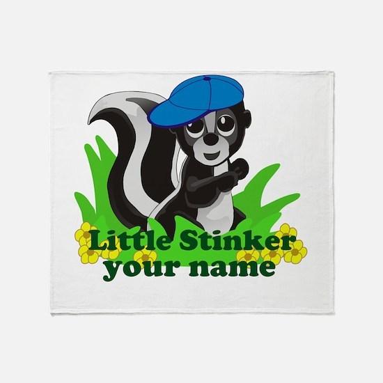 Personalized Little Stinker (Boy) Throw Blanket
