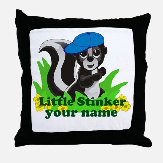 Personalized Little Stinker (Boy) Throw Pillow