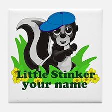 Personalized Little Stinker (Boy) Tile Coaster