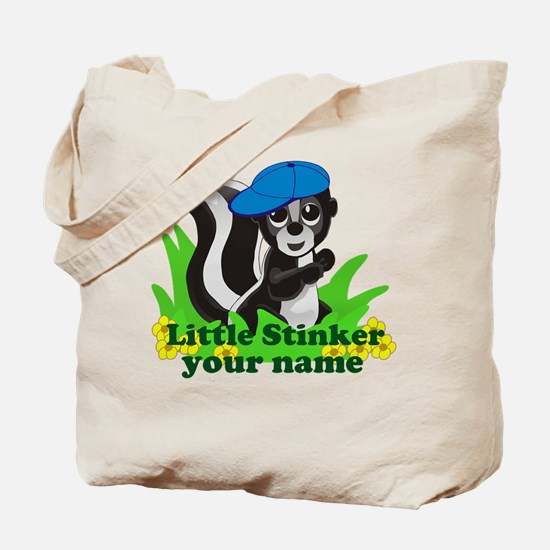 Personalized Little Stinker (Boy) Tote Bag