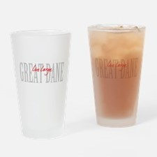 Great Dane Live Large Drinking Glass