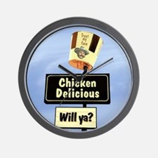 Chicken Delicious Wall Clock Will Ya?