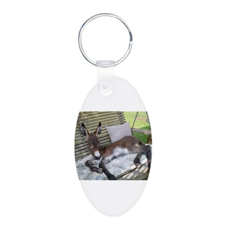 Lazy Ass Aluminum Oval Keychain