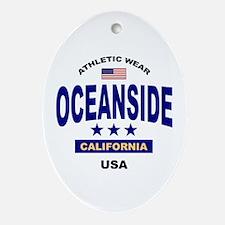 Oceanside Oval Ornament