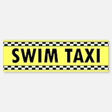 Swim Taxi Bumper Bumper Bumper Sticker