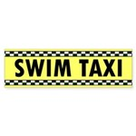 Swim Taxi Bumper Sticker