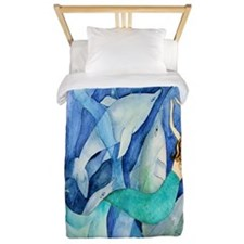 Dolphins And Mermaid Twin Duvet