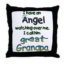 ANGEL GREAT GRANDPA.png Throw Pillow