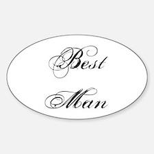 Best Man Sticker (Oval)