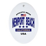 Beach Oval Ornaments