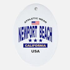 Newport Beach Oval Ornament