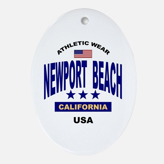 Newport Beach Oval Ornament