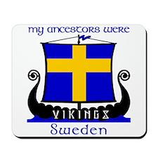 Swedish Viking Ancestors Mousepad