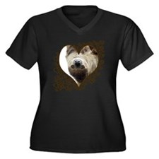Sloth Swirling Hearts Women's Plus Size V-Neck Dar