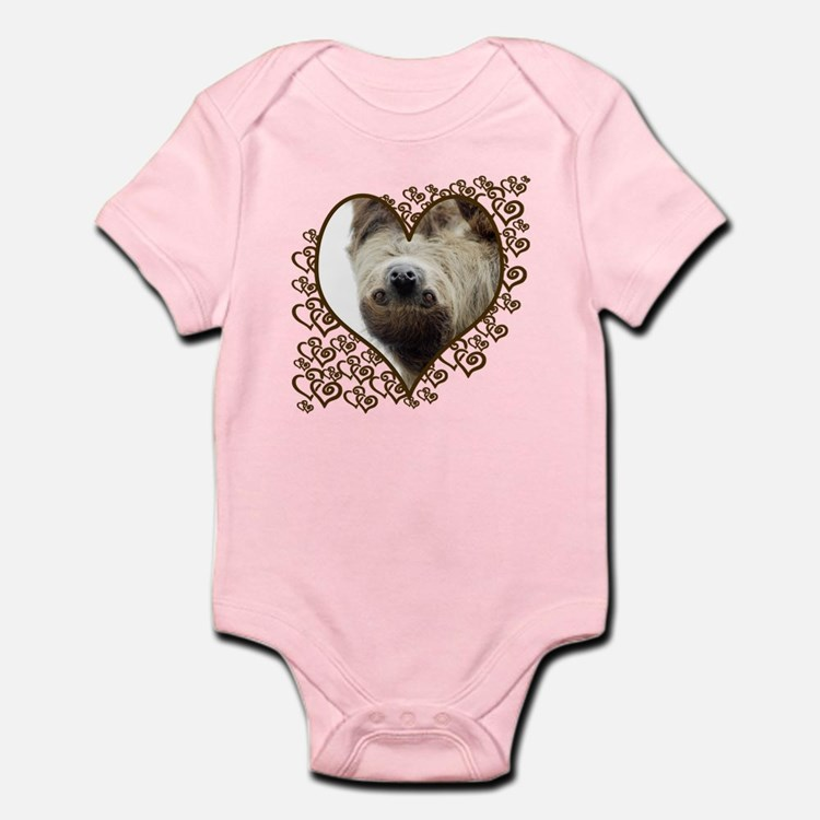 Sloth Swirling Hearts Infant Bodysuit