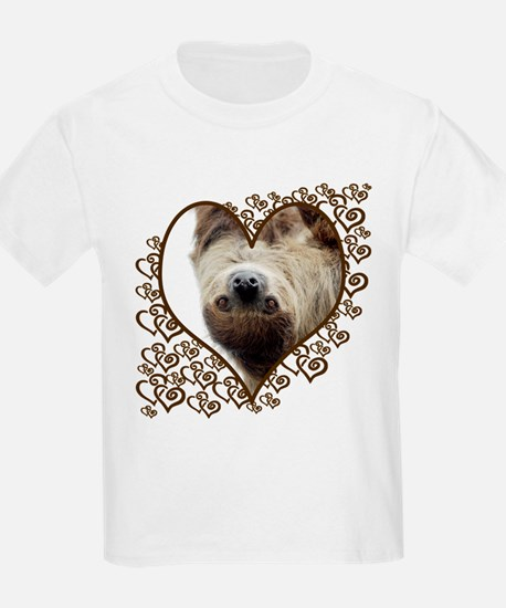 Sloth Swirling Hearts T-Shirt