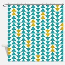 Turquoise and Yellow Triangles Shower CurtainTeal And Mustard Yellow Shower Curtains   Teal And Mustard Yellow  . Teal And Yellow Shower Curtain. Home Design Ideas