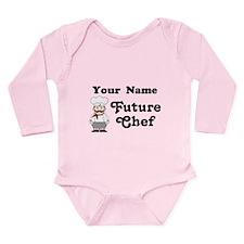 Personalized Future Chef Long Sleeve Infant Bodysu
