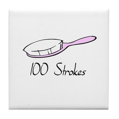 100 Strokes Tile Coaster