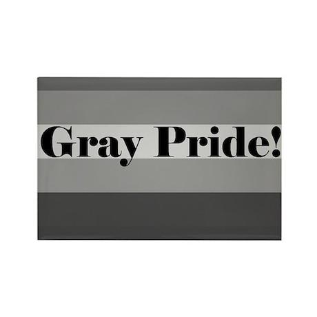"""Gray Pride"" Rectangle Magnet"