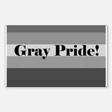 """Gray Pride"" Rectangle Decal"
