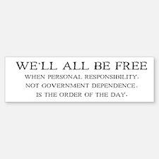 Personal Responsibility Bumper Bumper Bumper Sticker