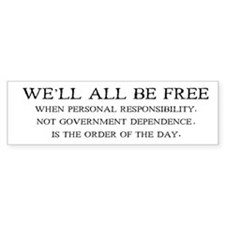 Personal Responsibility Bumper Bumper Sticker
