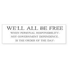 Personal Responsibility Bumper Car Sticker