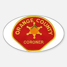 Orange County Coroner Sticker (Oval)