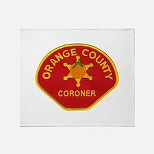 Orange County Coroner Throw Blanket
