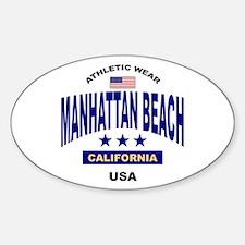 Manhattan Beach Oval Decal