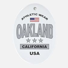 Oakland Oval Ornament