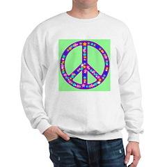 Peace Symbol Stars Pastel Gre Sweatshirt