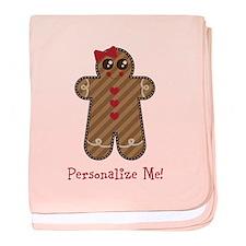 Gingerbread Girl #3 baby blanket